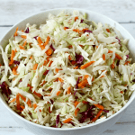 Easy no mayo coleslaw {3 ingredients}