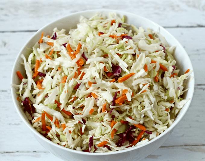 Easy no-mayo coleslaw | FamilyFoodontheTable.com