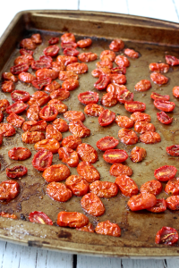 Slow roasted cherry tomatoes | FamilyFoodontheTable.com