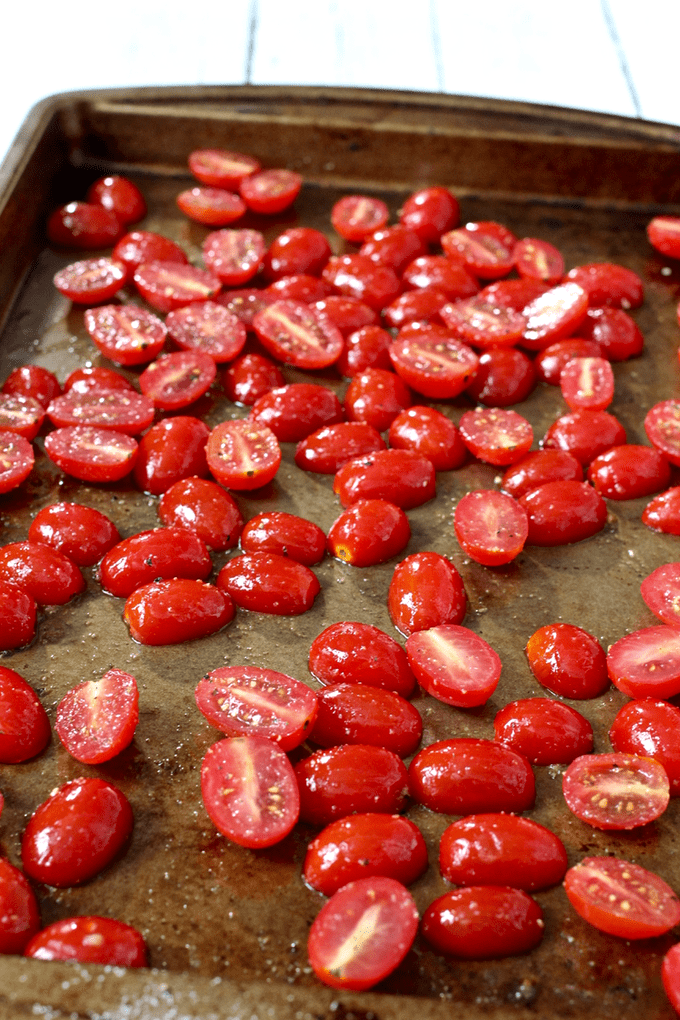 Slow roasted cherry tomatoes - Family Food on the Table