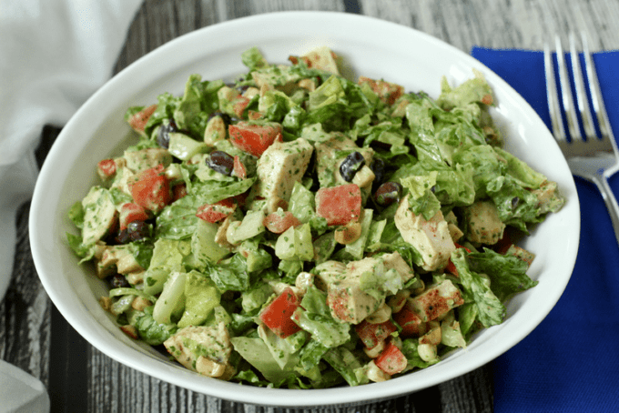 Southwestern chicken chopped salad | Family Food on the Table