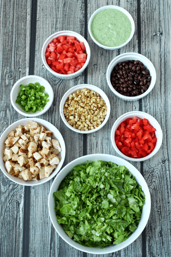 Southwestern chopped salad with grilled chicken | Family Food on the Table