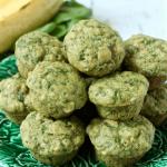 Spinach-banana mini muffins
