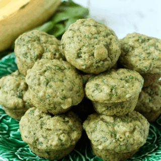 Spinach-banana mini muffins | FamilyFoodontheTable.com