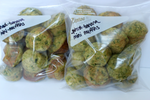 Spinach banana mini muffins freezer