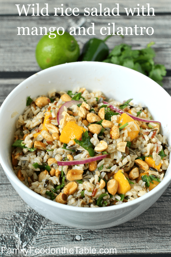 Wild Rice Salad With Mango And Cilantro Familyfoodonthetable Com