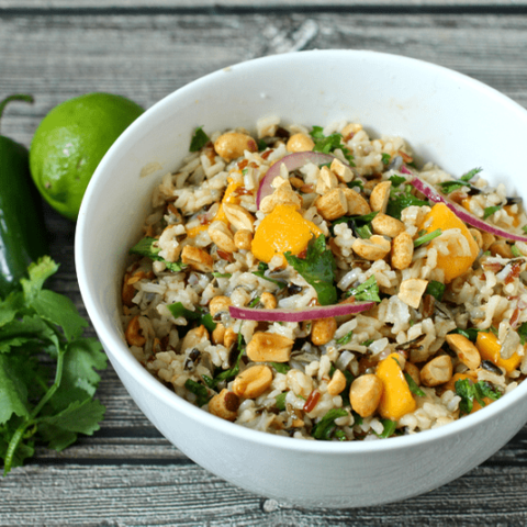 Wild rice salad with mango and cilantro | FamilyFoodontheTable.com