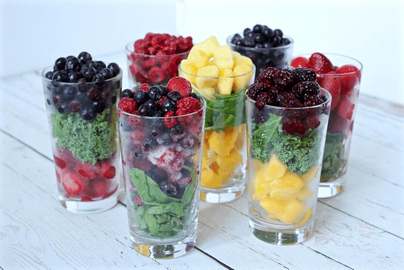 Homemade fruit and veggie mixes for yogurt - easy and fun to make!