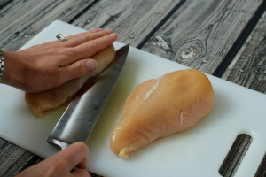 How to butterfly chicken breasts | FamilyFoodontheTable.com