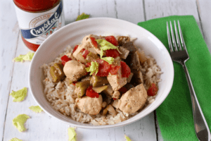 Cajun chicken with okra and tomatoes | FamilyFoodontheTable.com