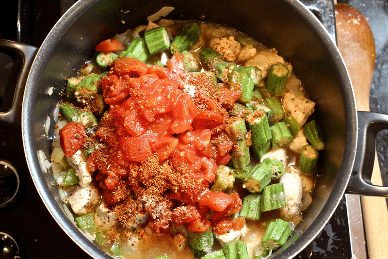 Cajun chicken stew with okra and tomatoes - Family Food on the Table