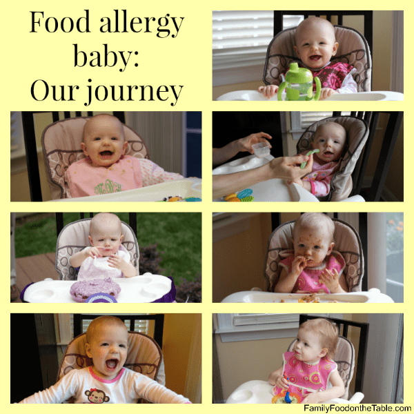 Food allergy baby: Our journey | FamilyFoodontheTable.com