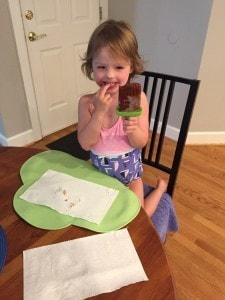 M with her popsicle