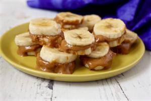 PB banana sandwiches