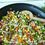 Quick corn and pepper saute