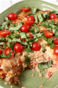 Baked quinoa Caprese casserole   FamilyFoodontheTable.com