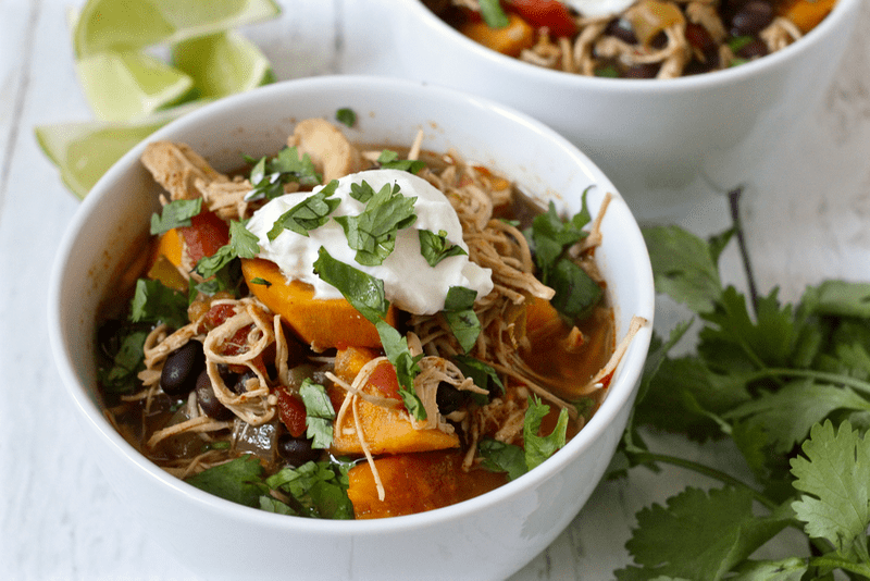 Slow cooker chicken, black bean and roasted poblano soup ...