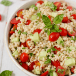 Barley salad with tomatoes
