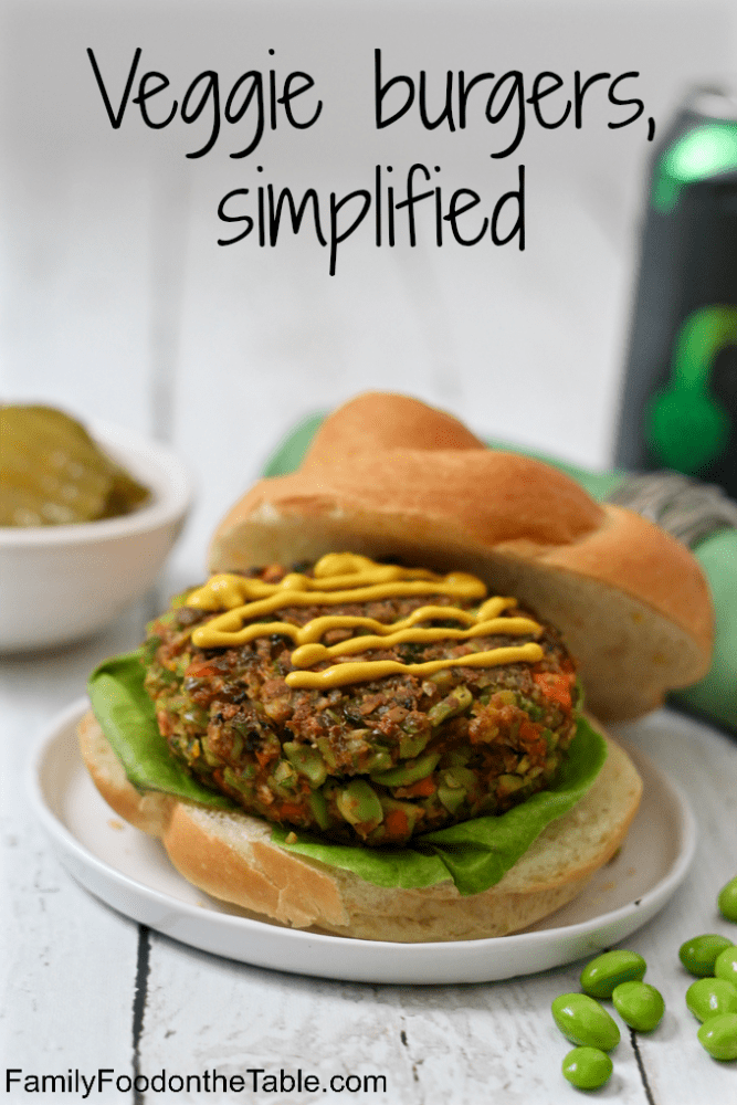 Easy veggie burgers - just 3 veggies and seasonings to keep it easy! | FamilyFoodontheTable.com
