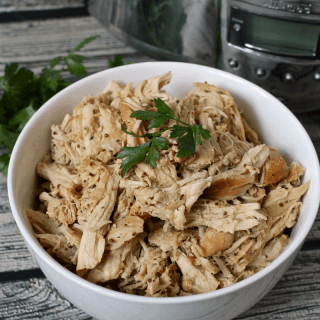 Slow cooker honey mustard chicken - only 5 minutes prep and so many ways to use it! | FamilyFoodontheTable.com