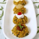 Triple veggie quinoa cakes