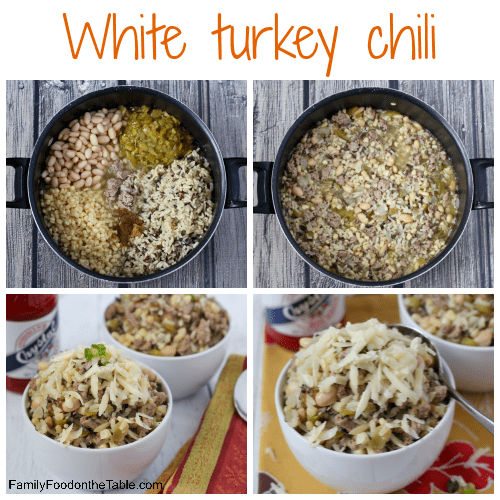 White turkey chili with cheese - an easy, healthy chili ready in about ...