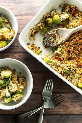 Brussels sprouts gratin | Thanksgiving sides round up