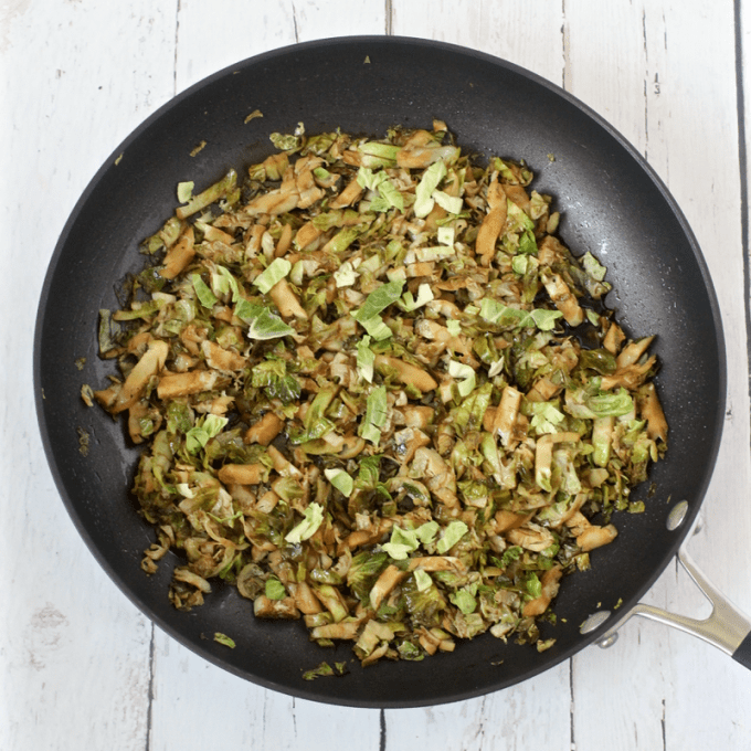 Easy balsamic shredded Brussels sprouts | FamilyFoodontheTable.com