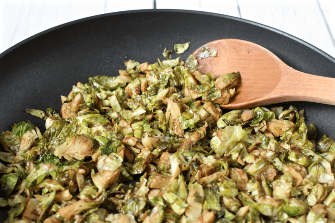Easy shredded balsamic Brussels sprouts | FamilyFoodontheTable.com