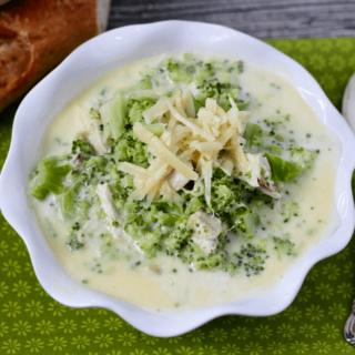 Cheesy chicken and broccoli chowder | FamilyFoodontheTable.com