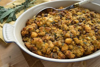 Sausage chestnut stuffing | Thanksgiving sides round up