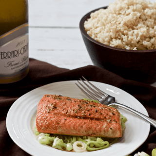 Salmon and leeks