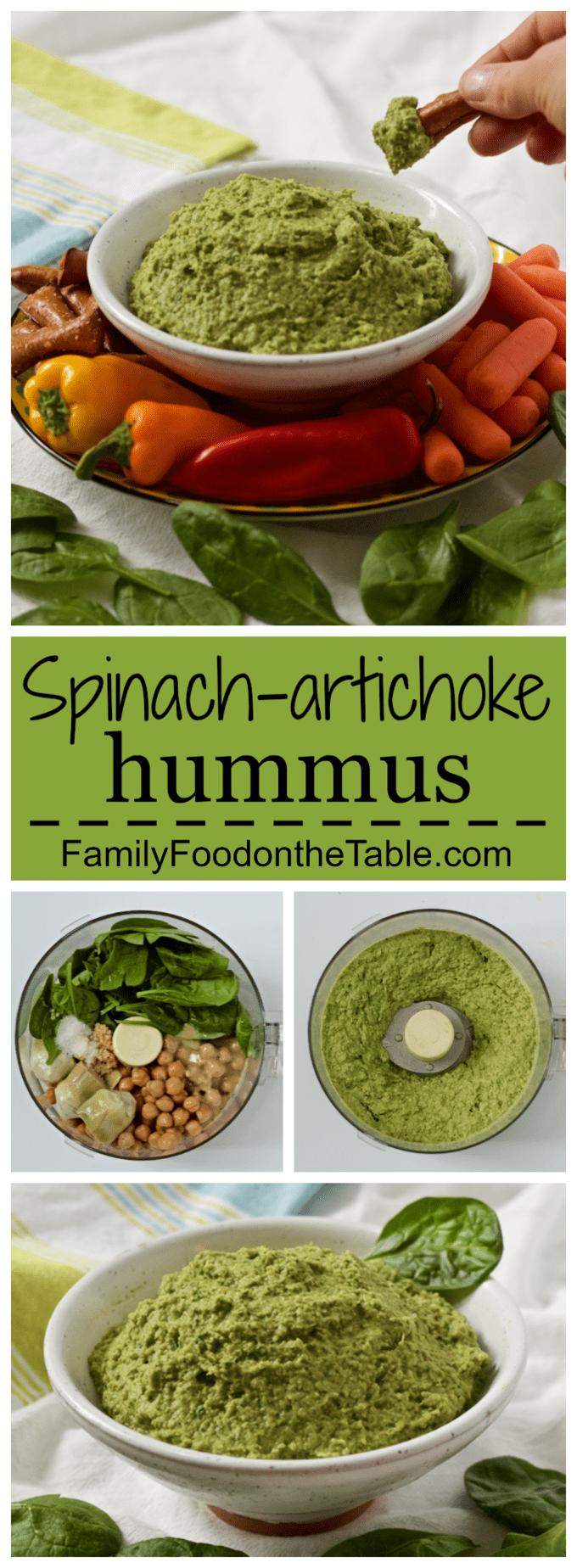 Spinach artichoke hummus - Family Food on the Table