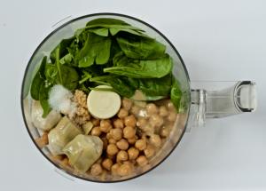 Spinach artichoke hummus ingredients