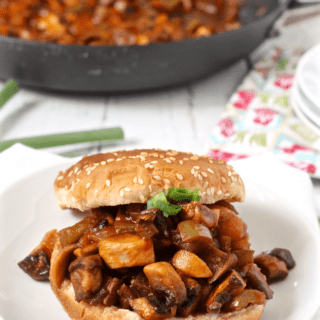 Veggie sloppy Joe's - a vegetarian take on the favorite messy sandwich! | FamilyFoodontheTable.com