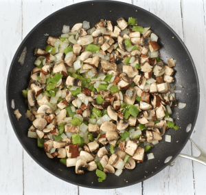 Veggies and mushrooms | FamilyFoodontheTable.com
