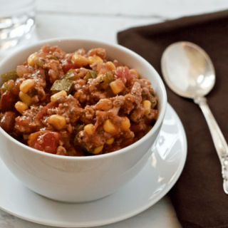 Hobo stew - an easy, budget-friendly stew made with ground turkey, beans and veggies | FamilyFoodontheTable.com