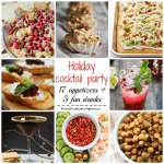 Holiday cocktail party {recipe round-up}
