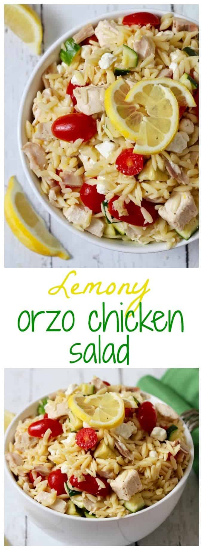recipe: chicken florentine salad with orzo pasta [33]