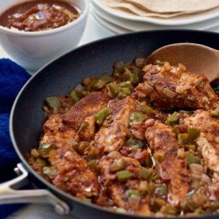 Skillet salsa chicken
