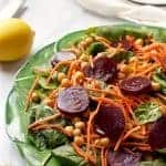 Start fresh spinach & beet salad