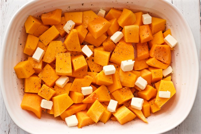 Butternut squash and butter - ready to roast