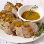 Maple-mustard pork tenderloin