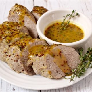 Maple mustard pork tenderloin - an easy, hands-off dinner with great flavor | FamilyFoodontheTable.com