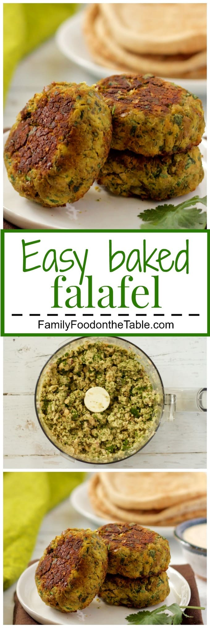 Easy baked falafel - these have a crispy exterior and soft inside with ...