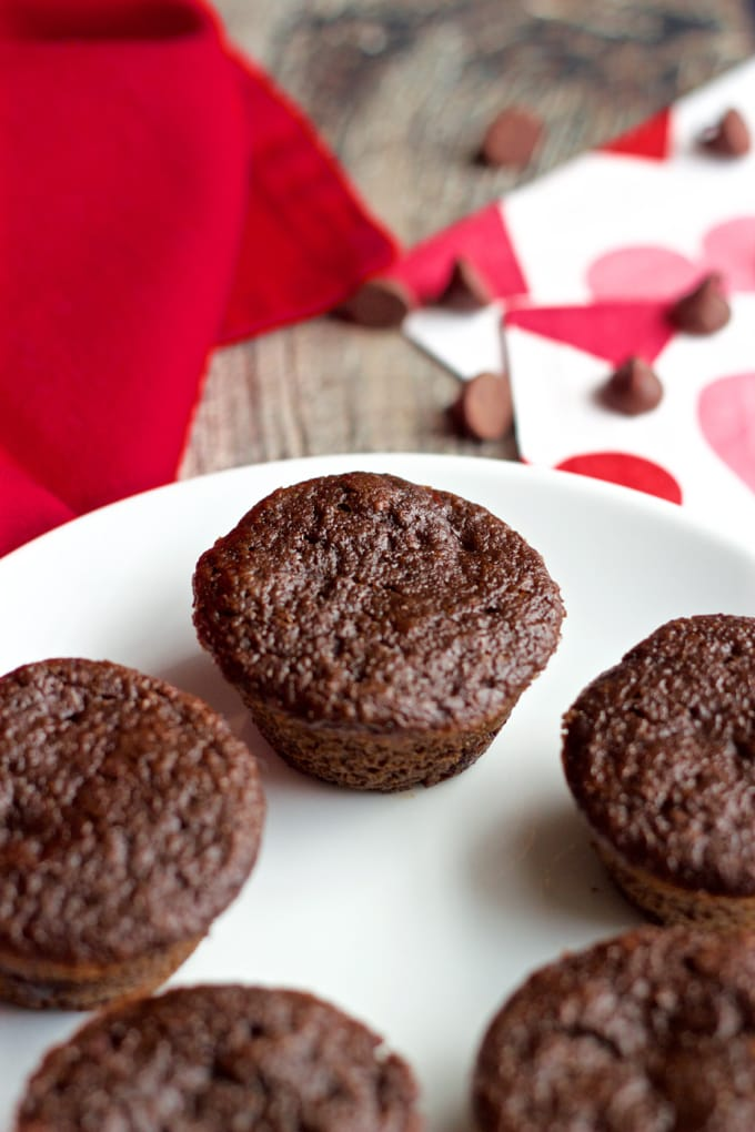 Healthy double chocolate mini cupcakes - 1-bowl and vegan-friendly | FamilyFoodontheTable.com