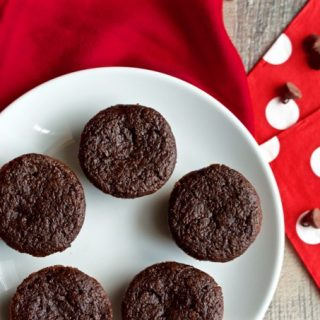 Healthy double chocolate mini cupcakes
