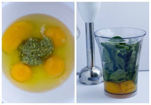 Green eggs and ham breakfast, prepared 2 ways - with pesto or spinach | FamilyFoodontheTable.com