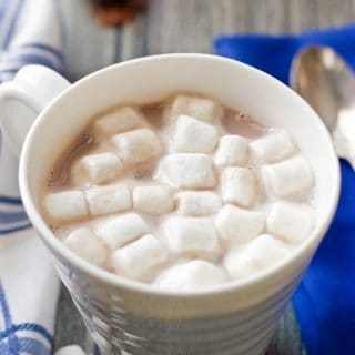 A simple 3-ingredient homemade hot chocolate that's ready in minutes! | FamilyFoodontheTable.com