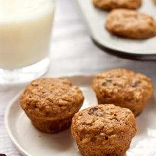 Mini oatmeal raisin baby muffins